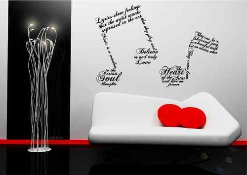 Details About Music Note Symbols Wall Art Sticker Quote