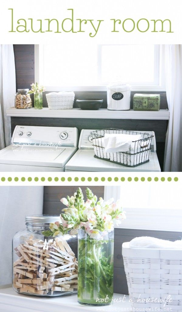 So cute LAUNDRY ROOM: How to hide electrical outlets and water lines behind your washer and dryer!