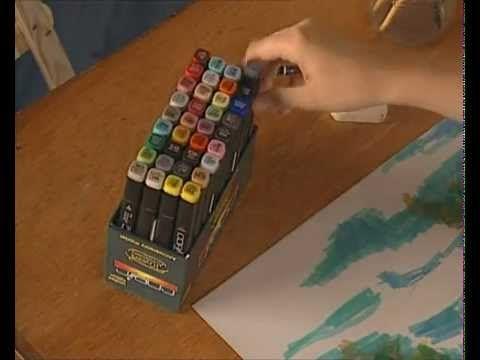 ▶ Curso practico de dibujo y pintura rotuladores disolucion del color - YouTube
