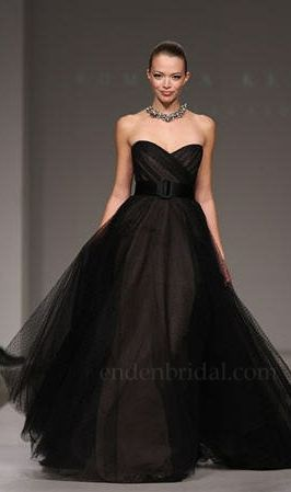 16 best black and white bridal gowns images on pinterest for Black wedding dresses meaning