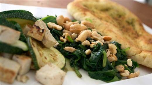 Recept - Naanbrood met tofu en spinazie #NLFit