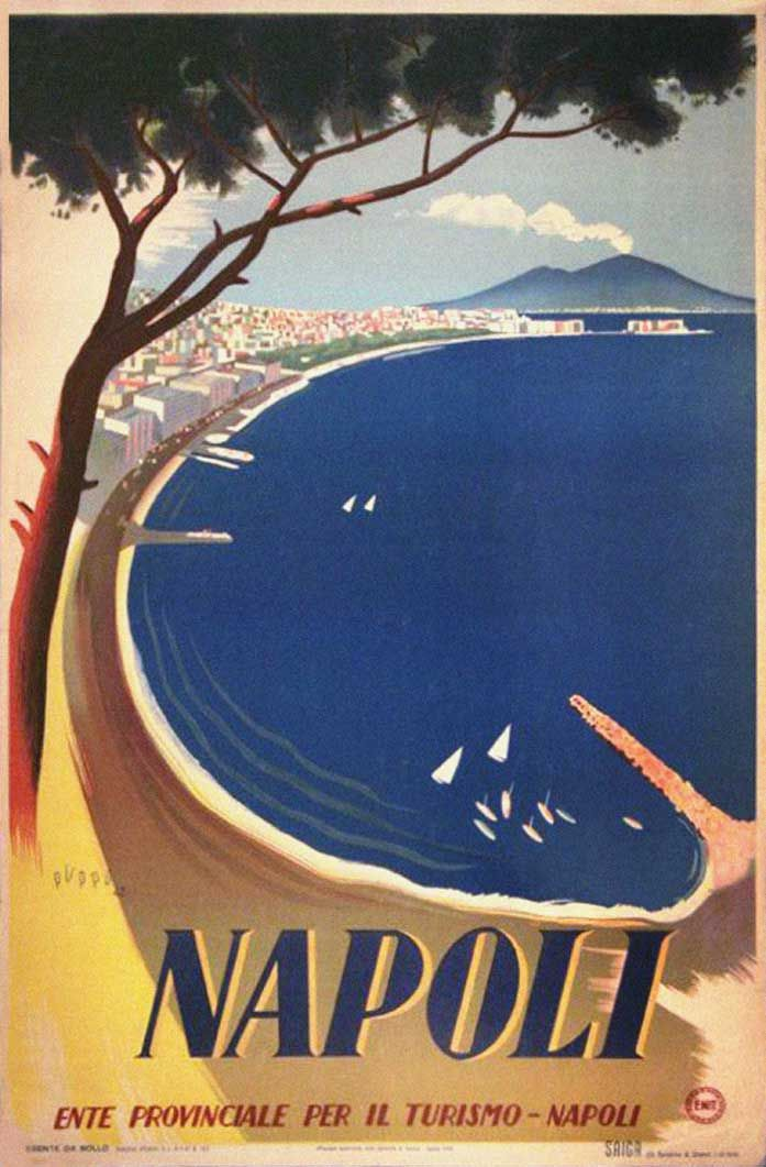 Naples poster by ENIT