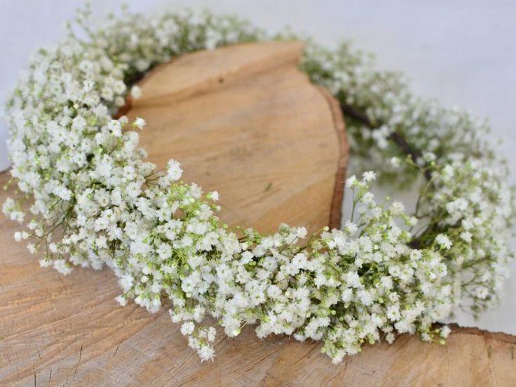 DIYウエディング「カスミソウの花冠」♡ 簡単に出来ちゃう手作り方法。 | Story my wedding