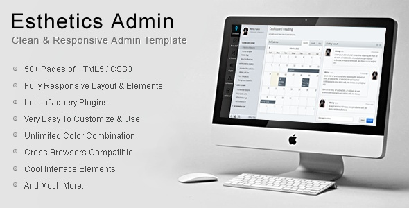 Esthetics Admin - Clean & Responsive Admin Template by Infynitix , via Behance
