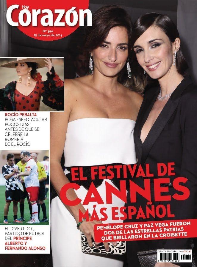 revista corazon el festival  de canes mas español principe penelope cruz...