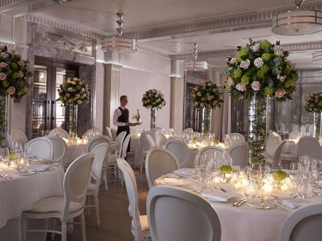All White Weddings At The Connaught London Restaurant