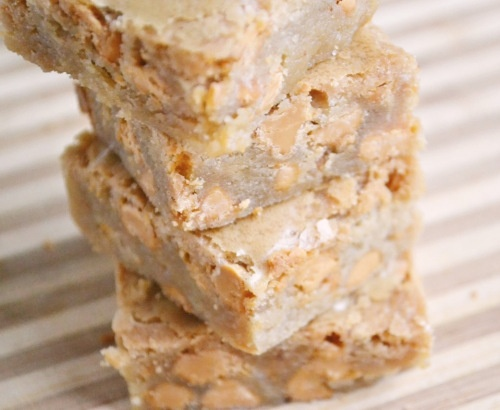 Butterscotch Blondies -use only 1/2 stick of butter and 1/2 the salt ...