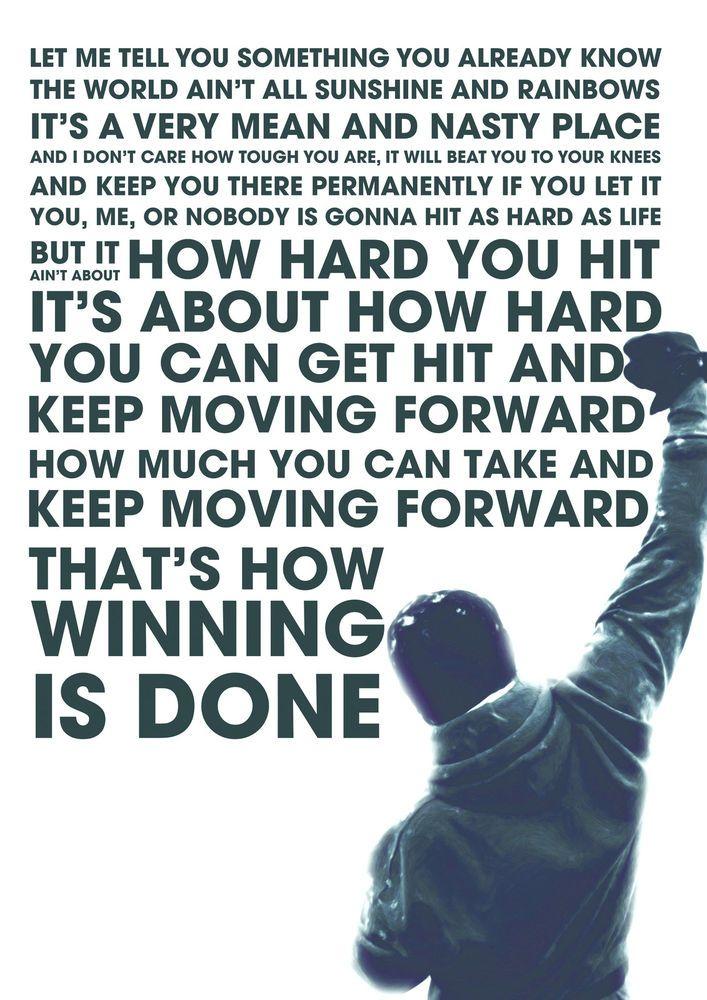 Rocky Balboa Boxing Inspirational Motivational Poster