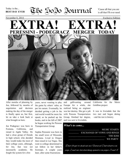Best Wedding  Engagement Newspaper Templates Images On
