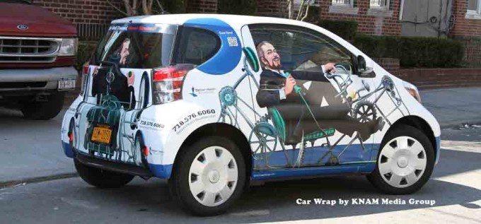 Car Wrap Advertising by KNAM Media Group.