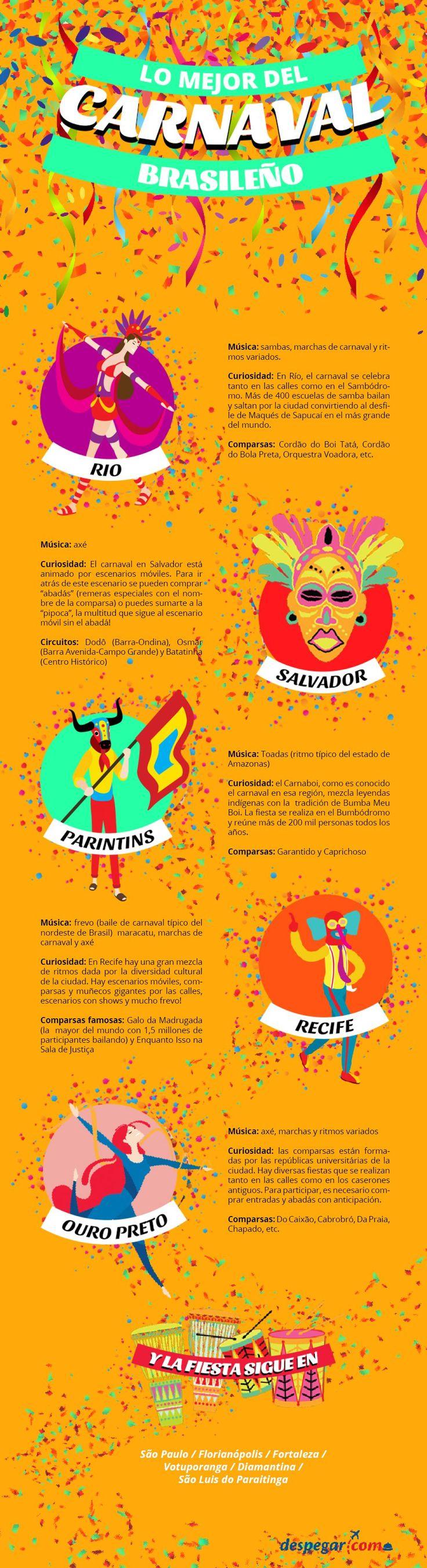 ¡Disfruta de lo mejor del #carnaval de #Brasil! #Fiesta #Color #Brillo
