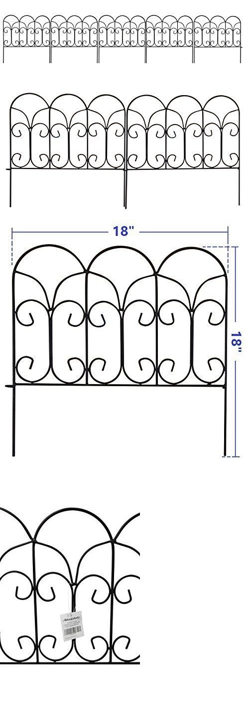 Trellises 43538: Decorative Garden Border Edging Wire Fence Panel Bed Flower Lawn Metal Landscape -> BUY IT NOW ONLY: $40.55 on eBay!