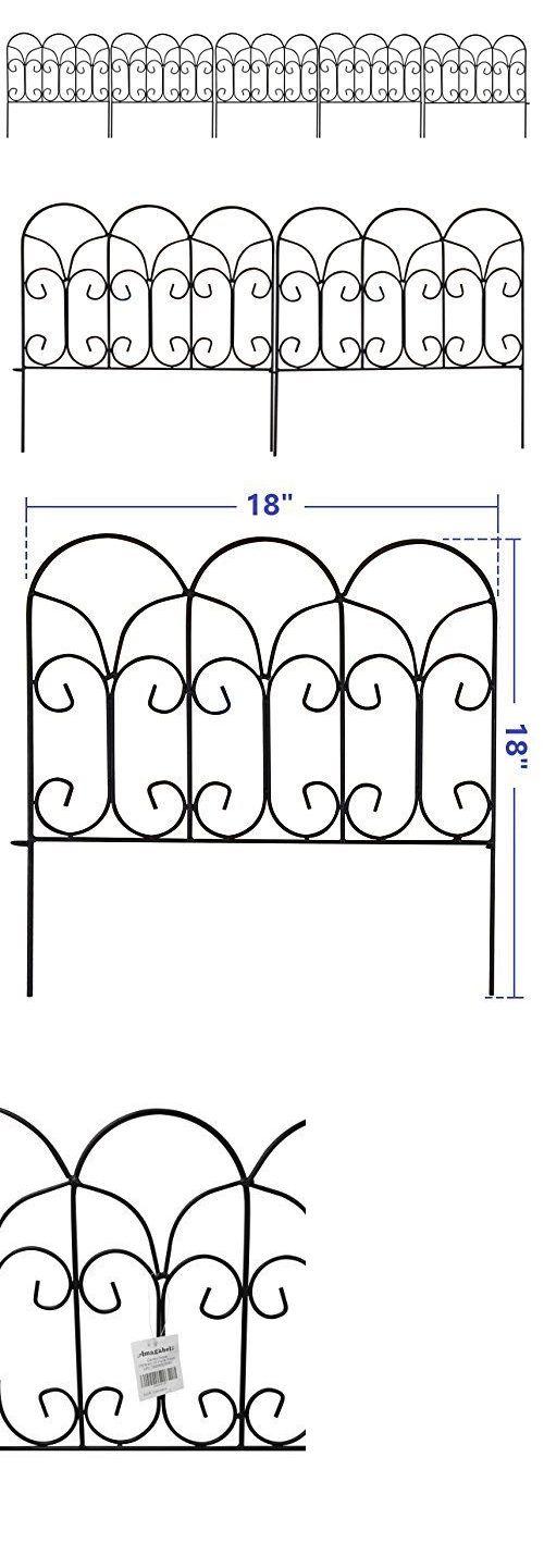 Trellises 43538: Decorative Garden Border Edging Wire Fence Panel Bed Flower Lawn Metal Landscape -> BUY IT NOW ONLY: $40.55 on eBay!