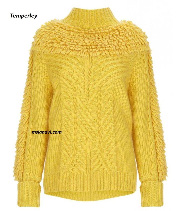 Вязаный свитер спицами от Temperley - СХЕМЫ #ВязаниеСпицами  http://mslanavi.com/2016/04/vyazanyj-sviter-spicami-ot-temperley/