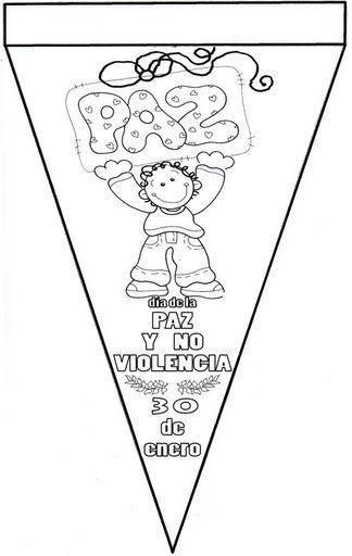 Menta Más Chocolate - RECURSOS y ACTIVIDADES PARA EDUCACIÓN INFANTIL: Banderines Dia de la Paz