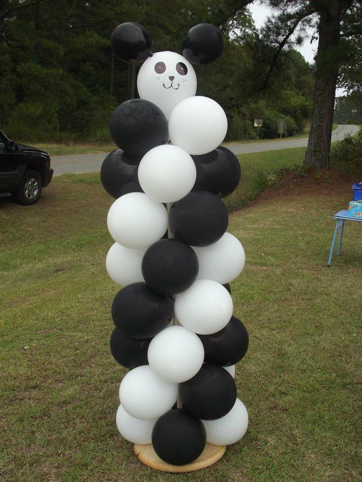 Panda Bear Balloon Column $40