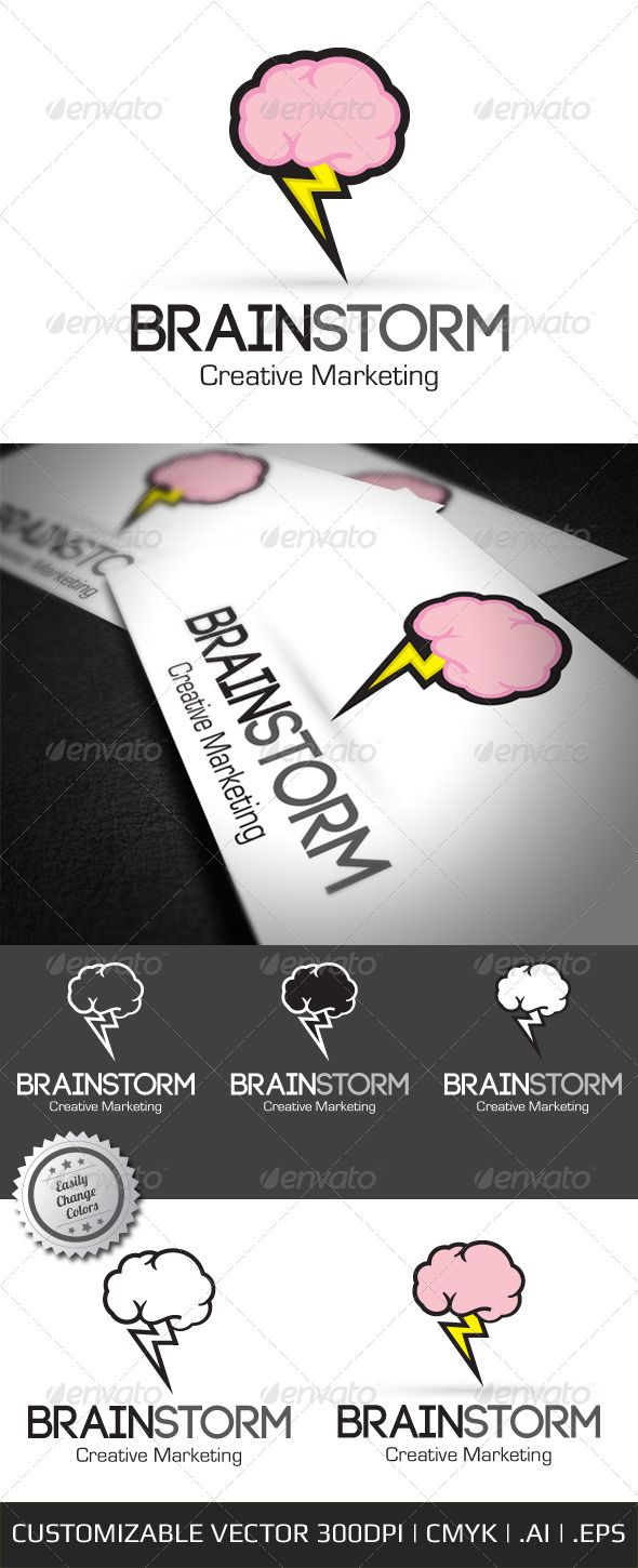 Brain Storm Creative Logo Template - GraphicRiver Item for Sale