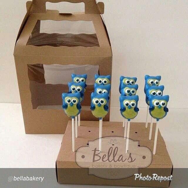 Owl cake pops by @Elizabeth Lockhart Beekley in BRP Box Shop's Cake Pop Box…