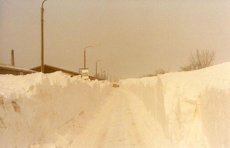 Sne i Nysted på Lolland omkring nytåret 1978/79