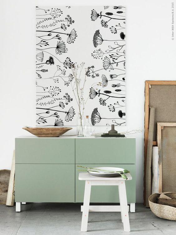 BESTÅ opbergcombi | Deze pin repinnen wij om jullie te inspireren. #IKEArepint #IKEA #IKEAnl #meubel #lappviken #groen #NORRÅKER #kruk #landelijk #landelijk wonen