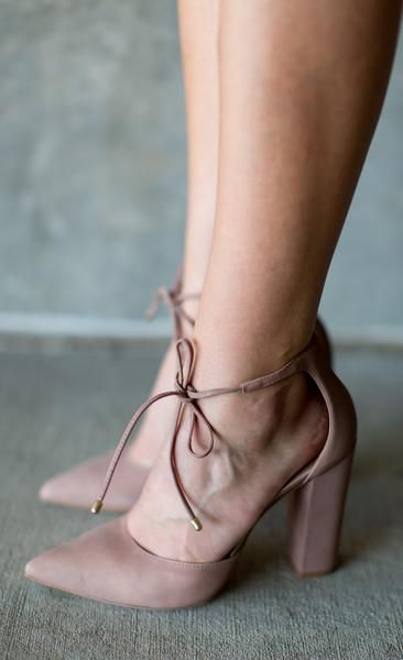 """Pamper yourself a little Details: Nubuck upper Lace-up closure Synthetic lining and outsole 4"""" block heel"""