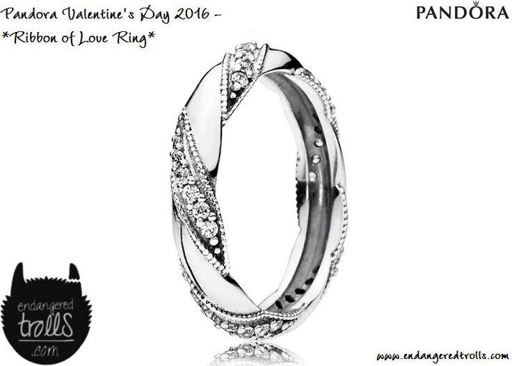 Pandora Ribbon of Love Ring