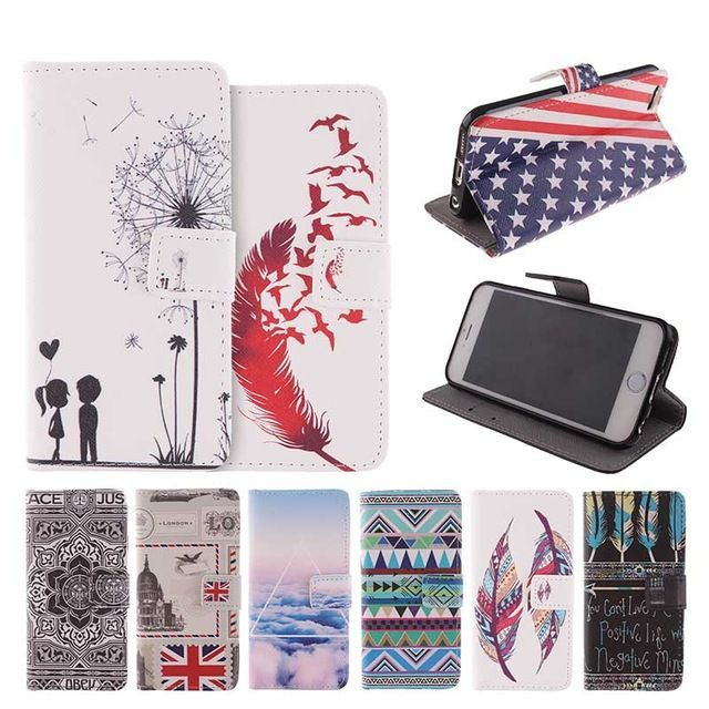 For Apple iPhone 6 Case Luxury Fashion Pattern Wallet Cover iPhone 6s Case Phone 6 S PU Leather + Silicon Coque Funda Capa