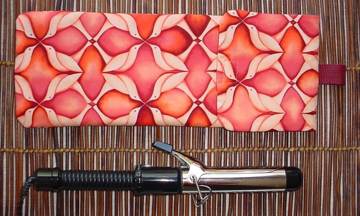 Insulated Curling Iron Bag, Curling Iron Holder, Flat Iron Holder, Curling Iron Bag, Curling Iron Pouch, Curling Iron Storage by JMockingbirds on Etsy