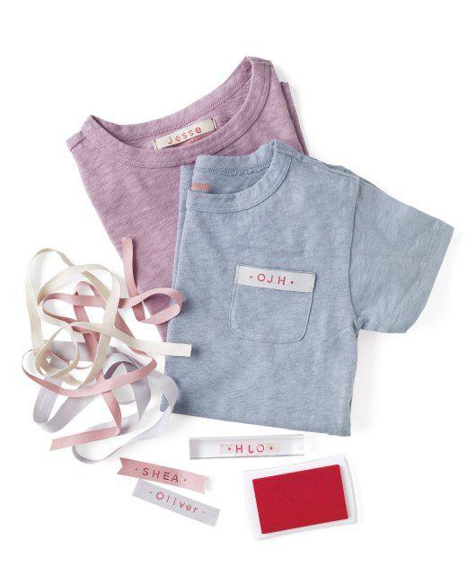 Clothing Name Tags And Monograms Homemade Martha