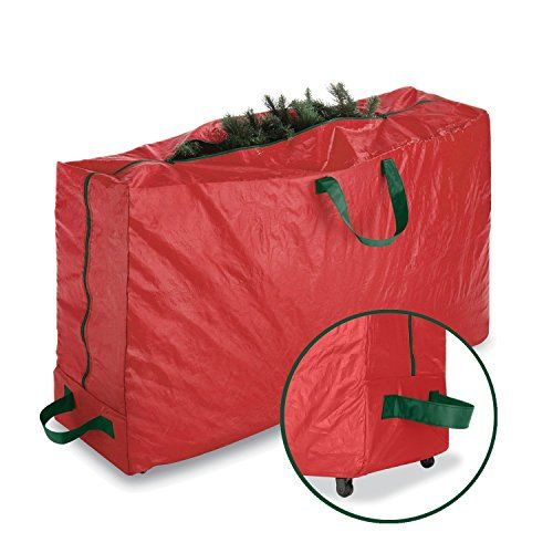 Paksh / Whitmor Red Christmas Tree Storage Bag And Decoration Storage For Holiday With Wheels / Made With Heavy Duty Polypropylene / Large Bag For 9 Foot Tree  http://www.fivedollarmarket.com/paksh-whitmor-red-christmas-tree-storage-bag-and-decoration-storage-for-holiday-with-wheels-made-with-heavy-duty-polypropylene-large-bag-for-9-foot-tree/