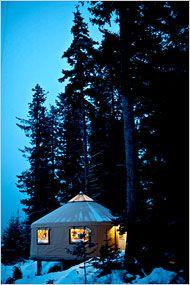A yurt in Seldovia, Alaska. Photo: Stuart Isett for The New York Times