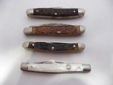 Lot of 4 Vintage Pocket Knives Kon Kav Kabar Western Imperial