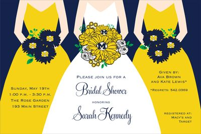University of Michigan Shower Invitations. I needed these 2 years ago for our Michigan wedding!!: Showers, Shower Ideas, Wedding Shower, Wedding Ideas, Catalog, Dream Wedding, Bridal Shower Invitations, Products, Future Wedding