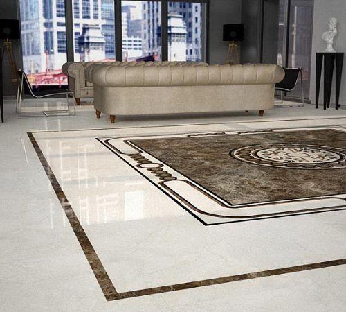 Мраморная плитка на пол в дизайне квартиры   Строительный портал