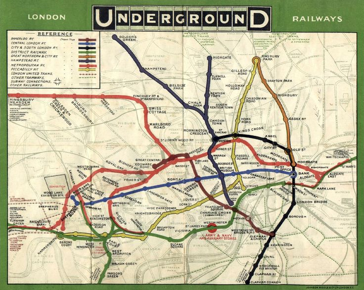 This gorgeous London Underground map from 1908.   17 London Underground Maps You Never Knew You Needed