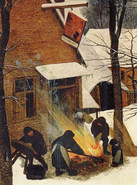 [ B ] Pieter Bruegel - The Return of the Hunters - Detail