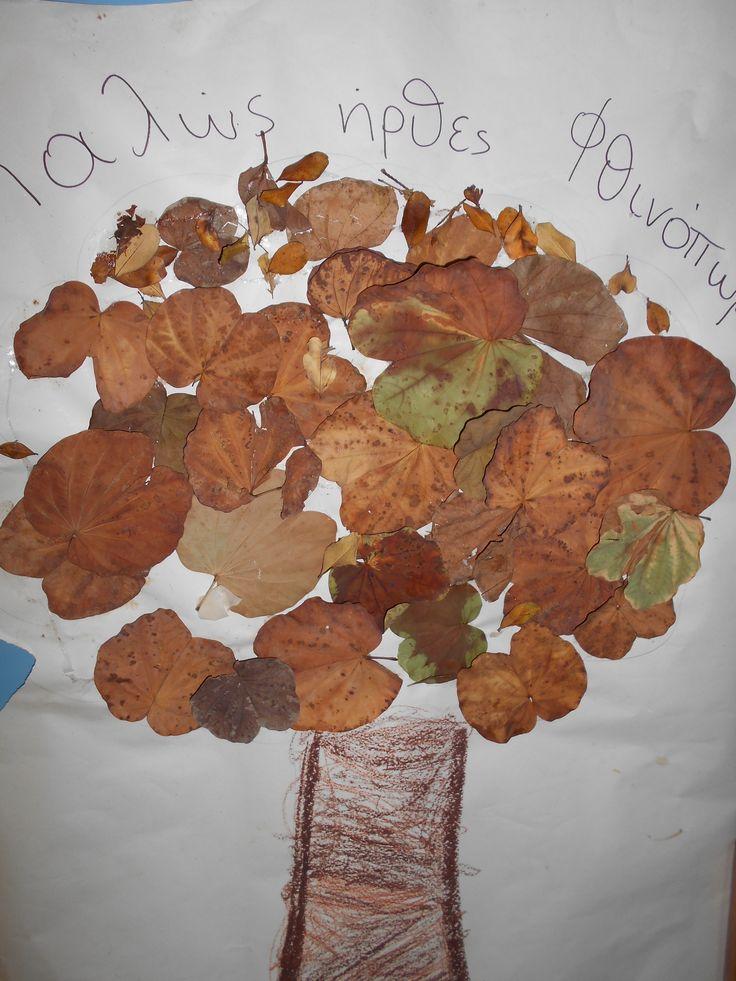 ομαδική - φθινοπωρινό δέντρο με φυσικά υλικά