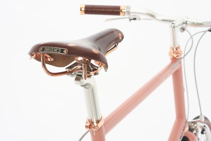 The Brooks England x Tokyobike Ltd. Edition Bike Is Rose Gold Porn - Core77