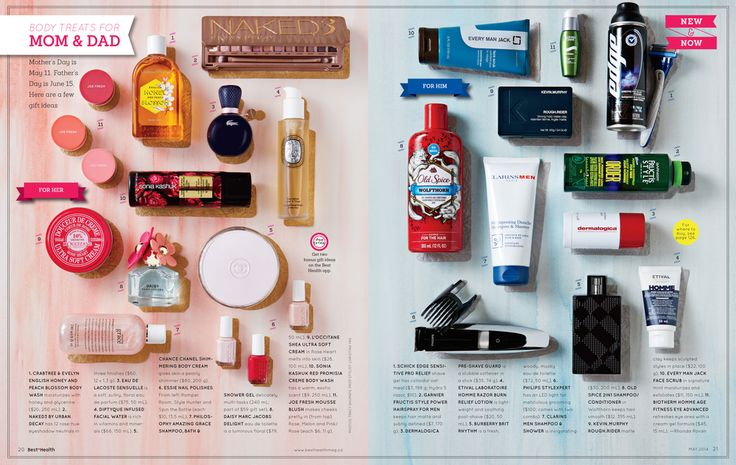 Mother's Day/Father's Day Gift Guide, May 2014 issue, Best Health Magazine