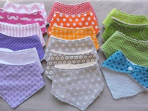 How to Sew / Make a Baby Bib   FREE Pattern Easy Beginners Sewing Tutorial   Twizzlez - YouTube