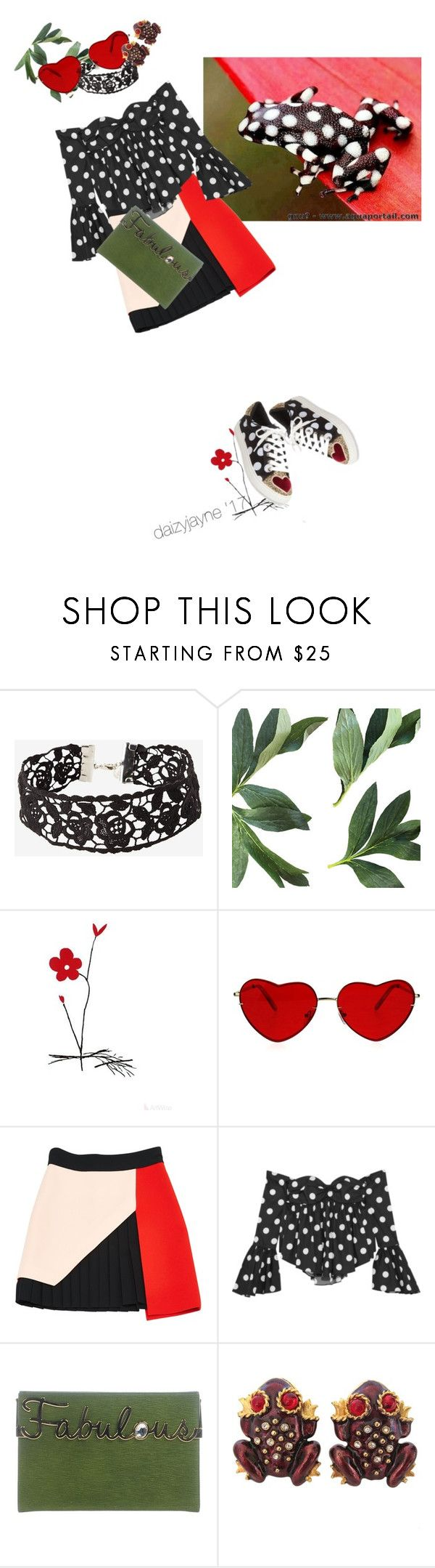 """""""Date with a frog"""" by daizyjayne ❤ liked on Polyvore featuring FAUSTO PUGLISI, Caroline Constas, Charlotte Olympia, Gerard Yosca, Betsey Johnson, contestentry and MastersOfMimicry"""