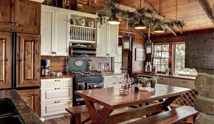 Decoração da cozinha rústica