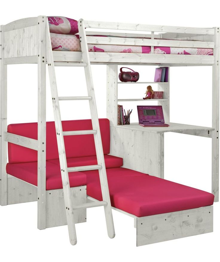 Buy Classic High Sleeper with Sofa Bed & Ashley Mattress -White at Argos.co.uk - Your Online Shop for Children's beds, Children's beds, Children's beds, Children's beds.