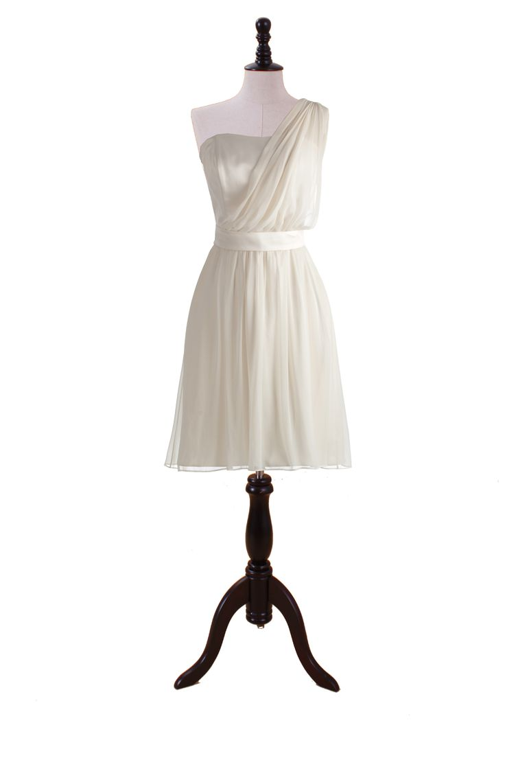 One Shoulder Chiffon and Satin Dress bridesmaid dress but in a color other than