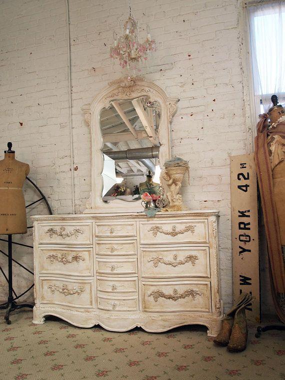 Painted Cottage Shabby White Romance Dresser