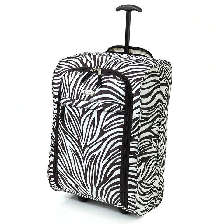 Karabar Cabin Approved Wheeled Bag 55 x 35 x 20 cm - 3 Years Warranty! (Zebra Black): Amazon.co.uk: Luggage