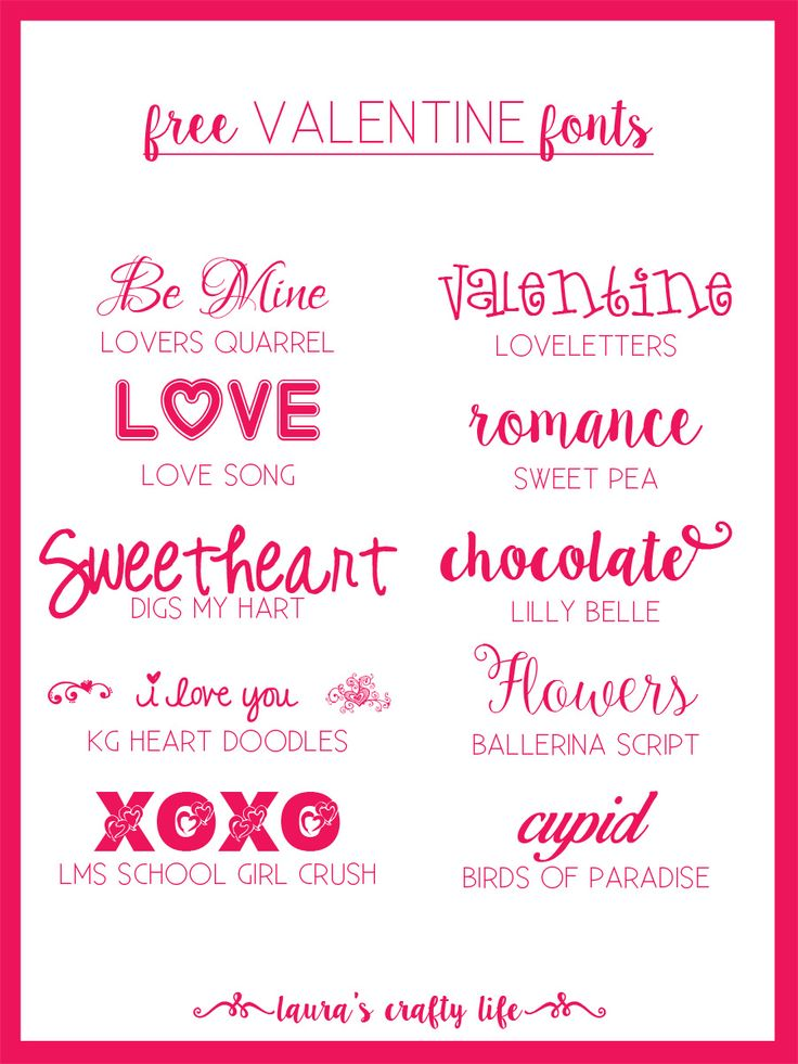 Valentine Fonts | Valentines, Cricut And Silhouette Cameo