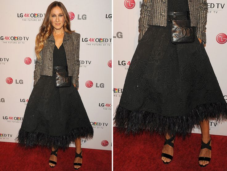 SARAH JESSICA PARKER Artis film Sex and the City meraih skor sempurna dengan gaun rancangan Tracy Reese.