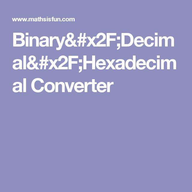 Binary/Decimal/Hexadecimal Converter