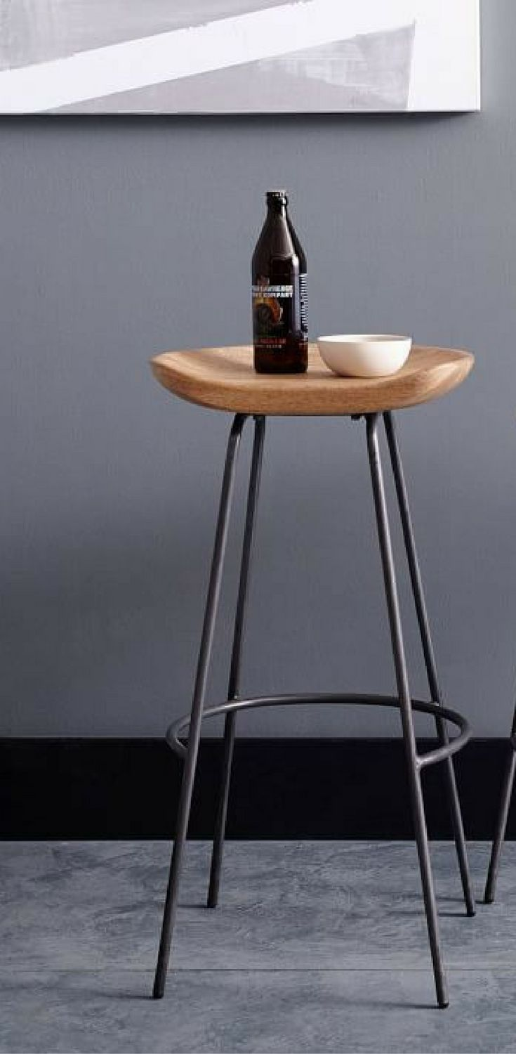 The Alden Bar Counter Stools Pair A Rustic Carved Wood